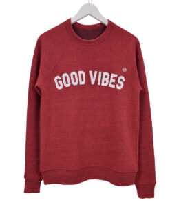 Good vibes – Fleece sweater Rood