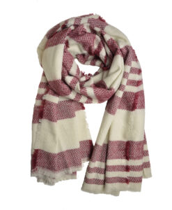 Red & beige soft scarf