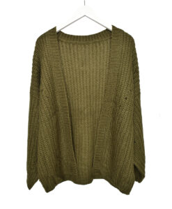 Knit cardigan – Groen