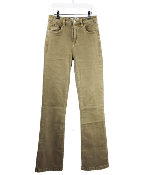 Flared jeans beige