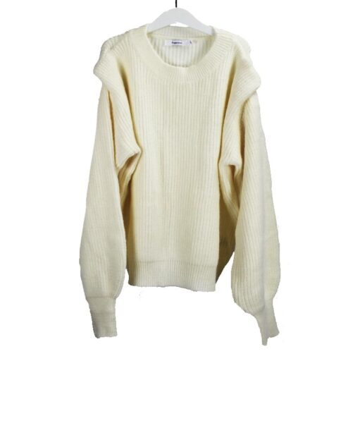 Ribbed sweater beige