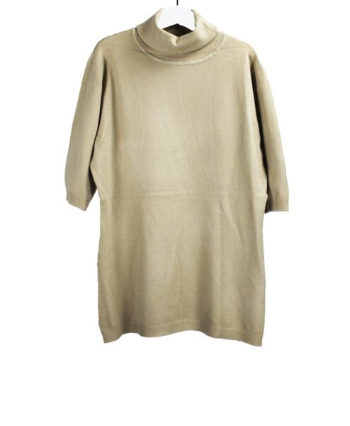 Turtleneck top beige