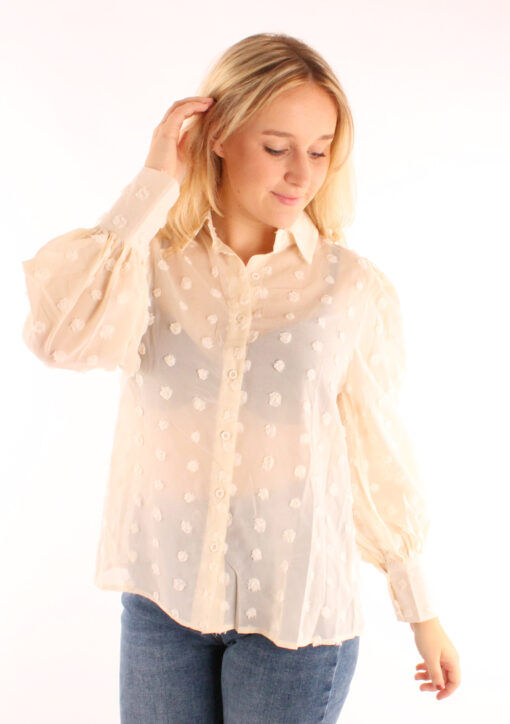 blouse-spotted-creme